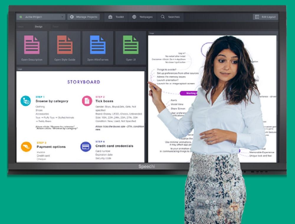 écran interactif pour entreprise